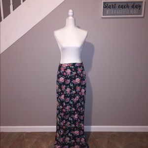 Just Be Floral Maxi Skirt
